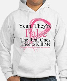 Fake 2 - Breast Cancer Jumper Hoody