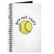 Blue Softball Team Journal