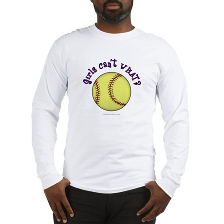 Purple Softball Team Long Sleeve T-Shirt