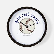 Blue Baseball Team Wall Clock