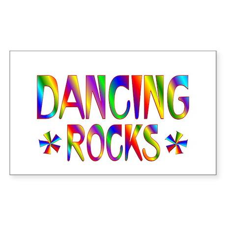 Dancing Sticker (Rectangle 50 pk)