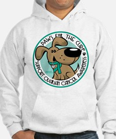 Ovarian Cancer Paws for the C Hoodie