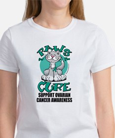 Ovarian Cancer Paws for the C Tee