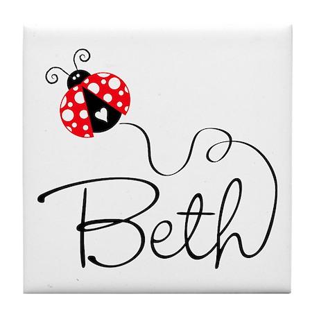 Ladybug Beth Tile Coaster