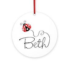 Ladybug Beth Ornament (Round)
