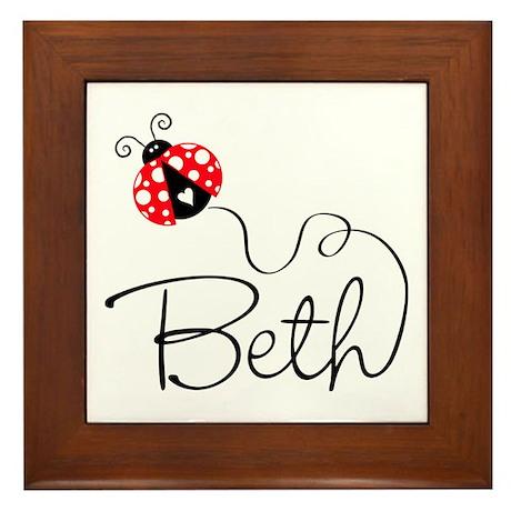 Ladybug Beth Framed Tile