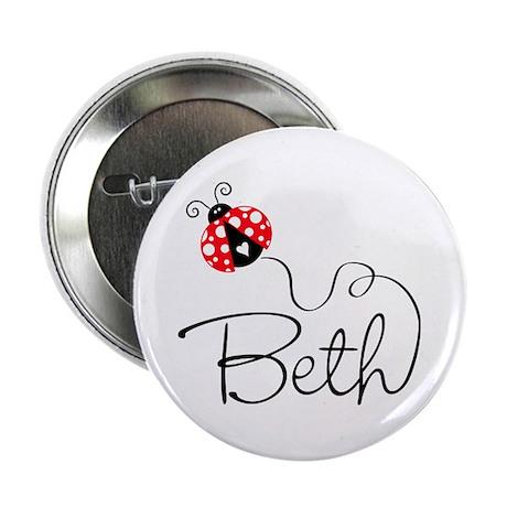 "Ladybug Beth 2.25"" Button"