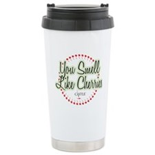 Smell Like Cherries Ceramic Travel Mug