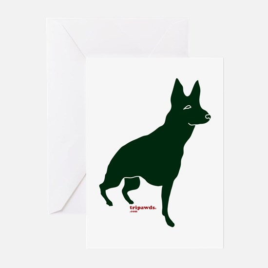 Tripawds Three Legged GSD Greeting Cards (Pk of 10