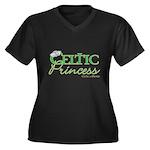 Celtic Princess Women's Plus Size VNeck Dk TShirt