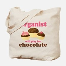 Funny Chocolate Organist Tote Bag