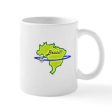 Brazil orbiting soccer ball Mug