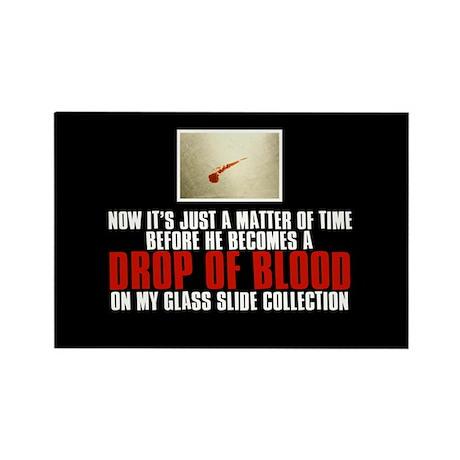 Dexter's Blood Slides Rectangle Magnet