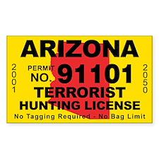 Arizona Terrorist Hunting License Decal