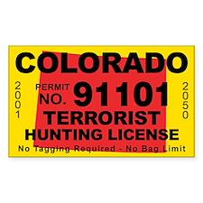 Colorado Terrorist Hunting License Decal