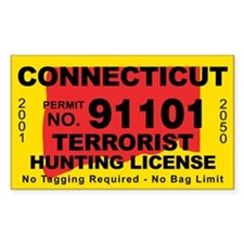 Connecticut Terrorist Hunting License Decal