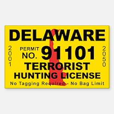 Delaware Terrorist Hunting License Decal