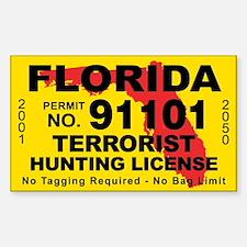 Florida Terrorist Hunting License Decal