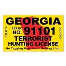 Georgia Terrorist Hunting License Decal