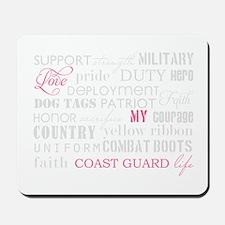Love My Coast Guard Life Mousepad