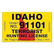 Idaho Terrorist Hunting License Decal