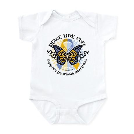 Psoriasis Peace Love Cure Infant Bodysuit