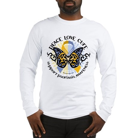 Psoriasis Peace Love Cure Long Sleeve T-Shirt