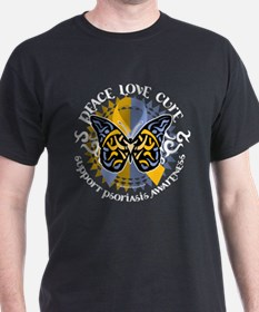 Psoriasis Peace Love Cure T-Shirt