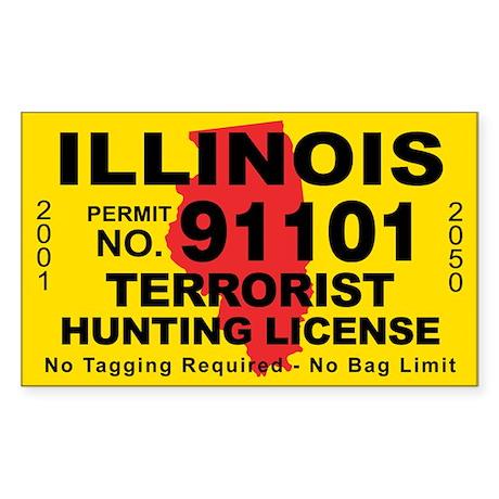 Illinois Terrorist Hunting License Sticker
