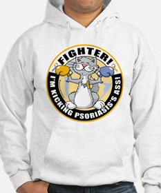 Psoriasis Fighter Cat Hoodie