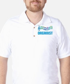 Music Staff Organist Golf Shirt