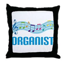 Music Staff Organist Throw Pillow