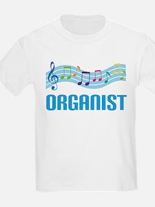Music Staff Organist T-Shirt