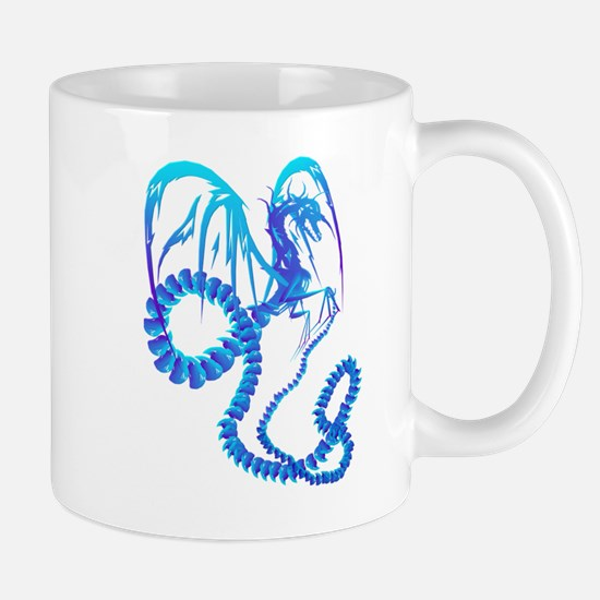 Electric Blue Dragon Mug
