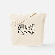 Organ Music Staff Tote Bag