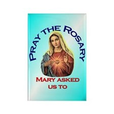 Pray the Rosary - Rectangle Magnet (f)