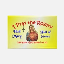 Pray the Rosary - Rectangle Magnet (c)
