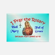 Pray the Rosary - Rectangle Magnet (b)