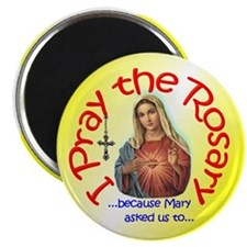 "Pray the Rosary - 2.25"" Magnet (d)"
