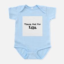 Thank God For Lila Infant Creeper