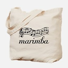Musical Staff Marimba Tote Bag