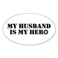 My Husband Is My Hero Decal