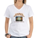 Long Beach Drive In Theatre Women's V-Neck T-Shirt