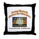 Long Beach Drive In Theatre Throw Pillow