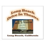 Long Beach Drive In Theatre Small Poster