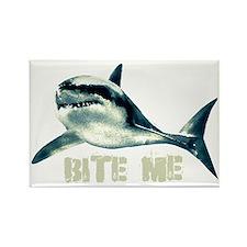 Bite Me Shark Rectangle Magnet