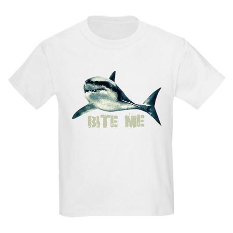 Bite Me Shark Kids Light T-Shirt