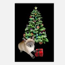 Cat Frosty Xmas Tree Postcards (Package of 8)