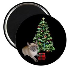 Cat Frosty Xmas Tree Magnet