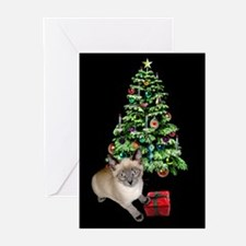 Cat Frosty Xmas Tree Greeting Cards (Pk of 20)